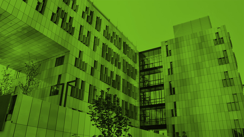 Med-Uni Graz Neubau beim LKH Graz in grün