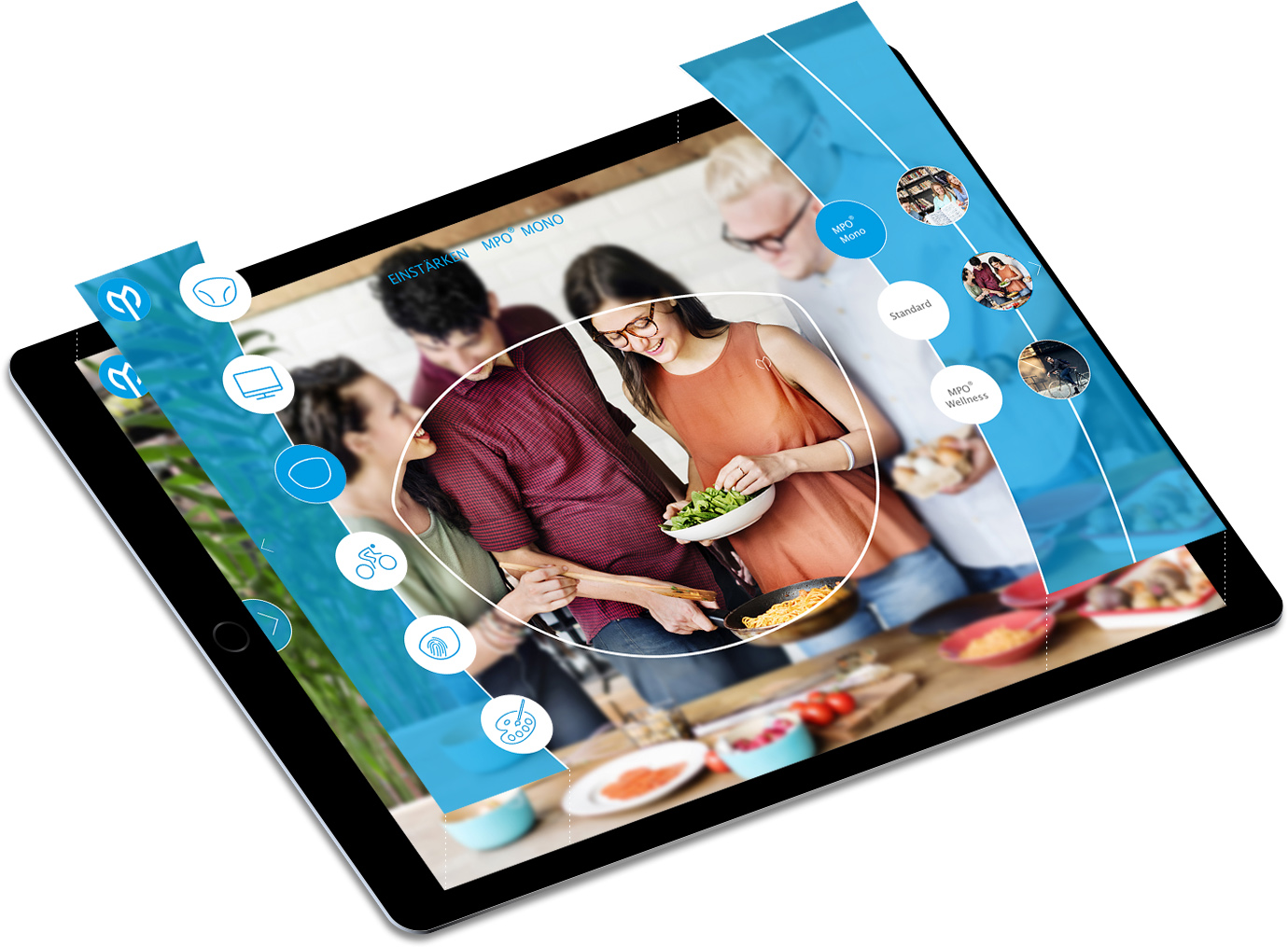 Pachleitner-App Referenz-Screen am Tablet