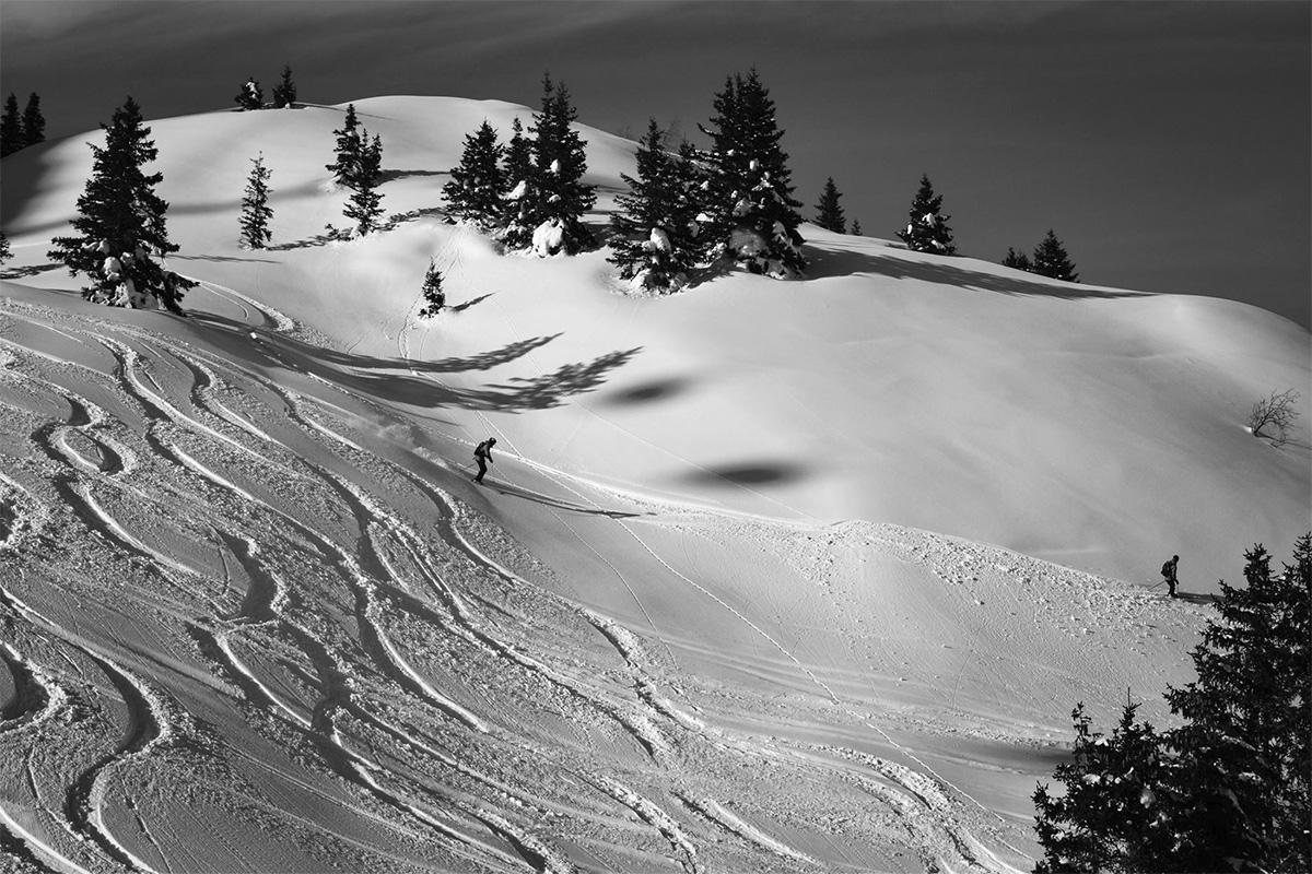 Pistenvergnügen im Tiefschnee am Rande des Sound-and-Snow Festivals in Gastein