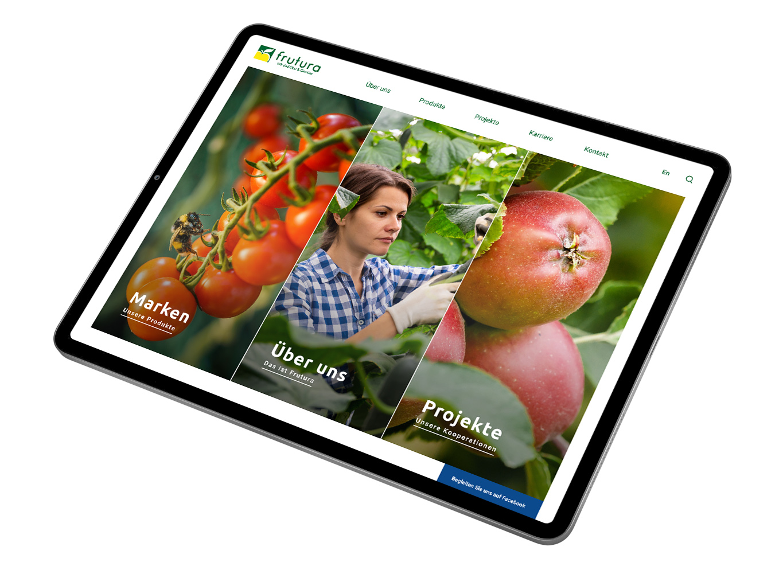 iPad Mockup der neuen Frutura Website von Conversory