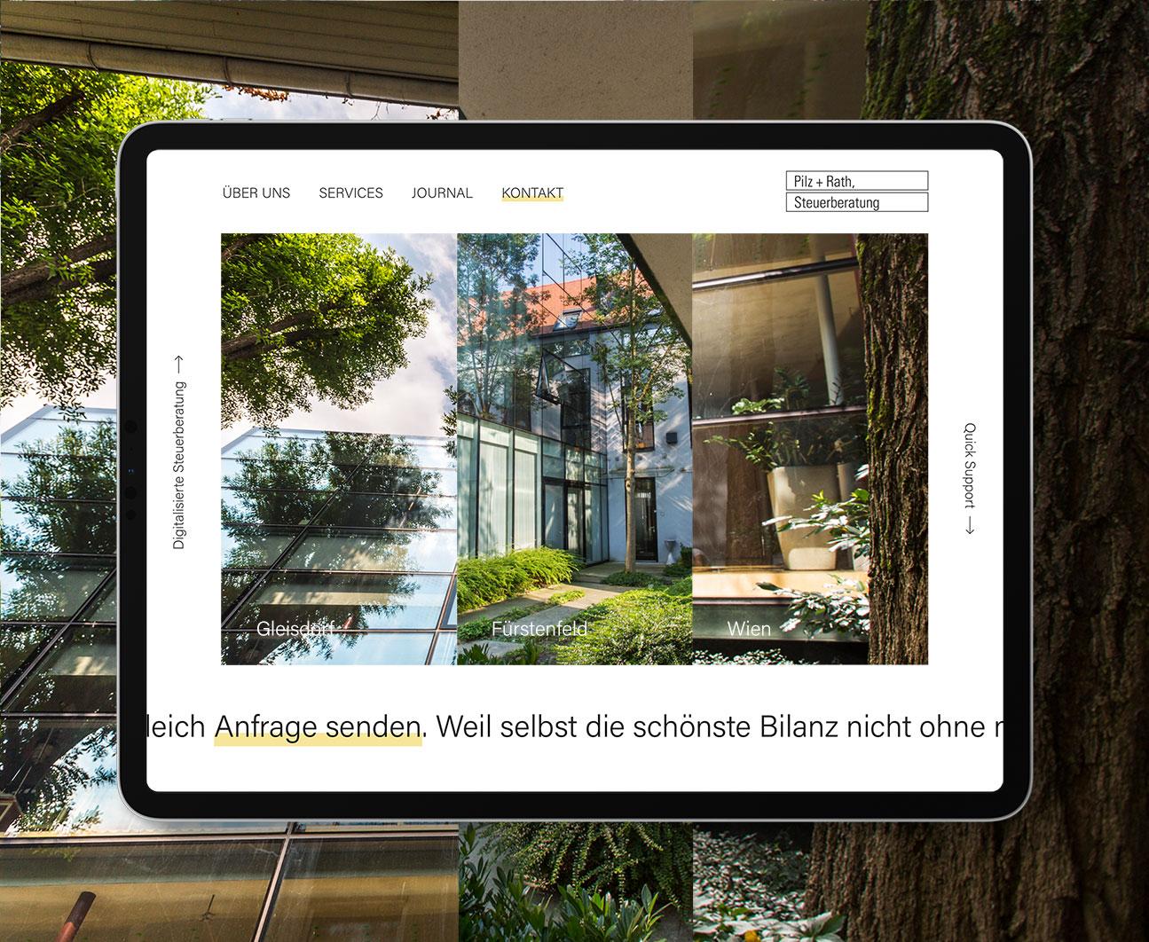 Tablet Mockup der neuen Pilz + Rath Website von Conversory